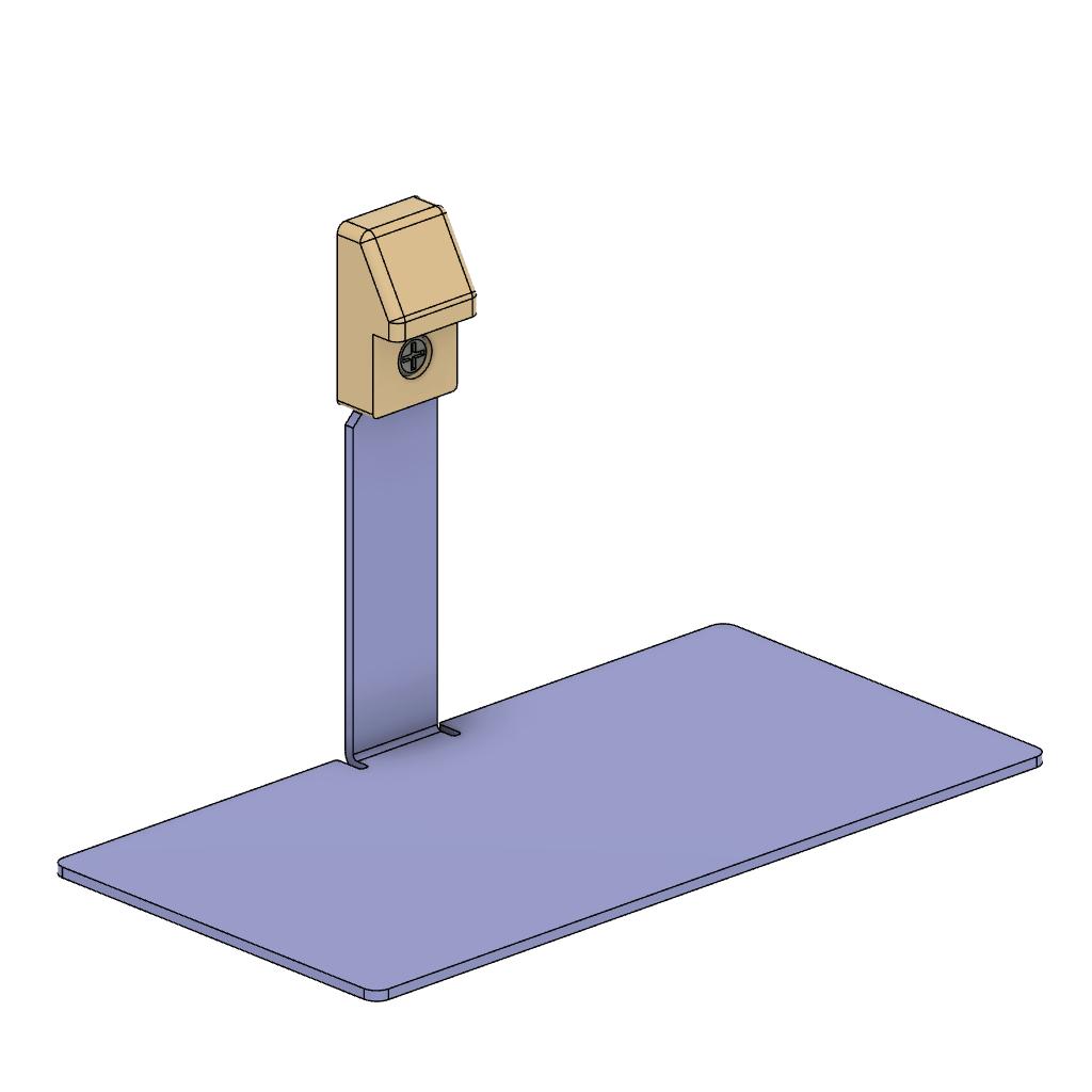 板金スナップフィット樹脂キャップ