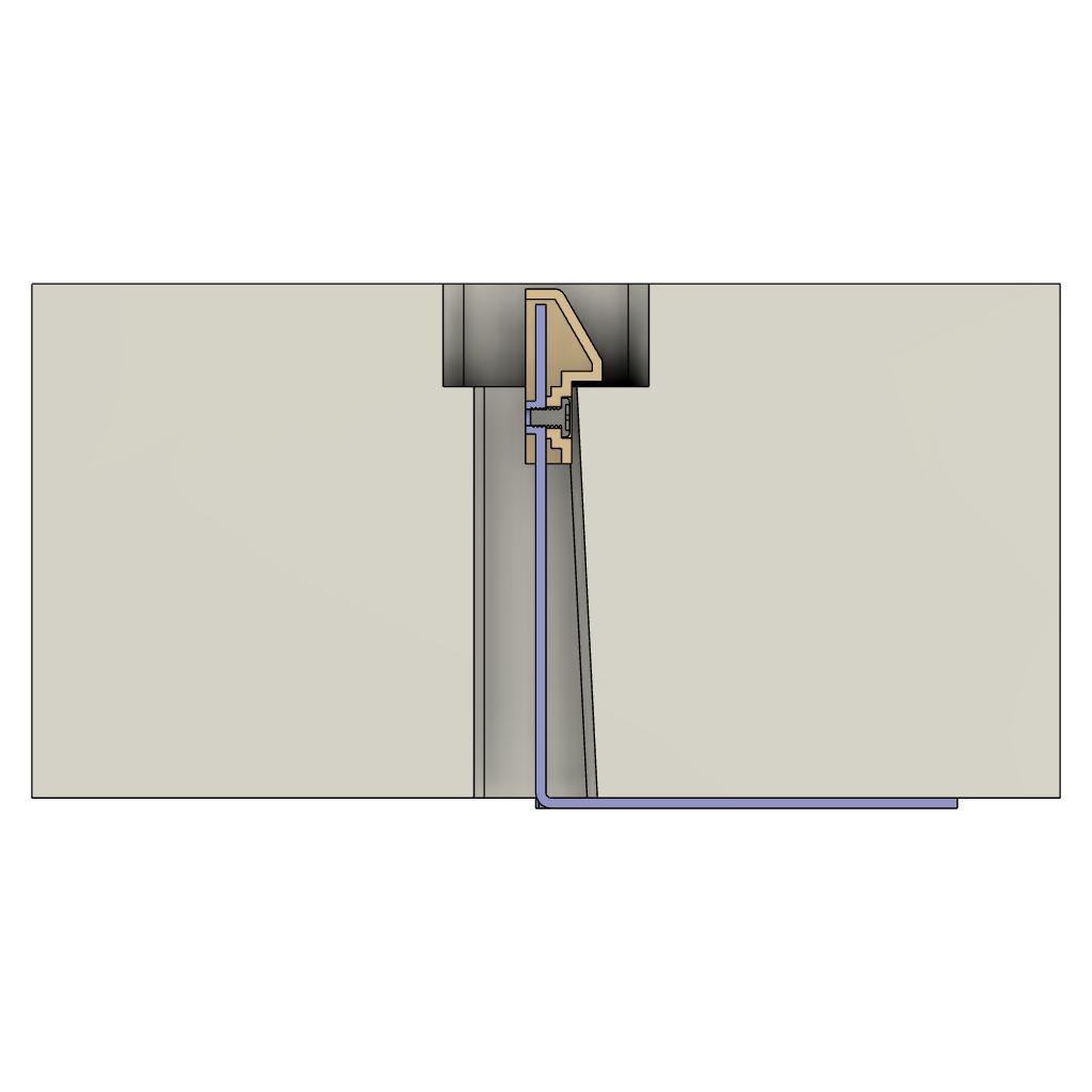板金スナップフィット樹脂キャップ_断面図